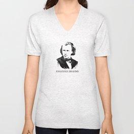 Johannes Brahms Unisex V-Neck