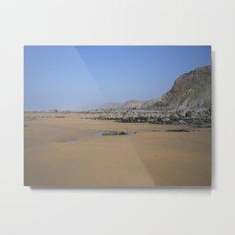 SANDYMOUTH BEACH NORTH CORNWALL FROM MENACHURCH POINT Metal Print