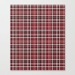 Plaid in red and brown colors . Canvas Print
