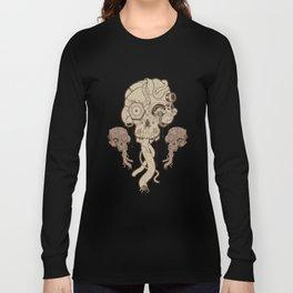 Cyborg Skull Long Sleeve T-shirt