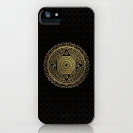 Golden  Star of Lakshmi - Ashthalakshmi  Sri iPhone Case
