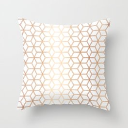 Hive Mind - Rose Gold #113 Throw Pillow