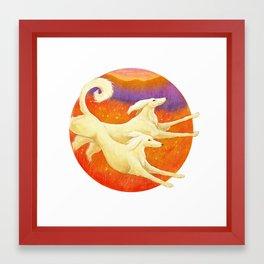 Salukis Framed Art Print