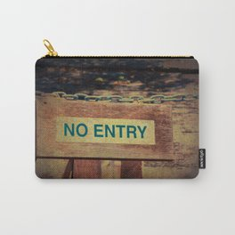 No Entry sign hanging on a chain Carry-All Pouch