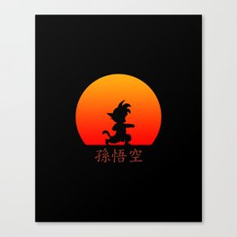 Young Saiyan Warrior Canvas Print