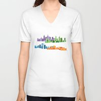 cities V-neck T-shirts featuring Australian Cities by S. Vaeth