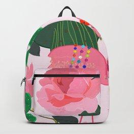 Flamingos. Exotic Birds Backpack