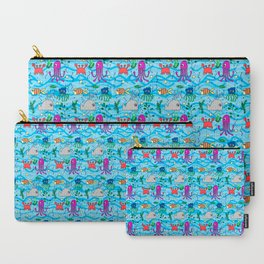 under the sea, whale, octopus, crab, fish, ocean, water,pattern,jellyfish Carry-All Pouch
