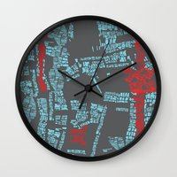 bali Wall Clocks featuring Bali by The Happy Scientist