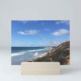 Ocean Surf In Carlsbad, California Mini Art Print