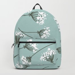 Queen Anne's Lace Floral Pattern Backpack
