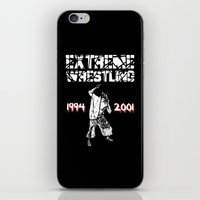 wrestling iPhone & iPod Skins featuring Extreme Wrestling by Darth Paul