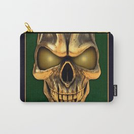 Skull with glowing golden eyes Carry-All Pouch