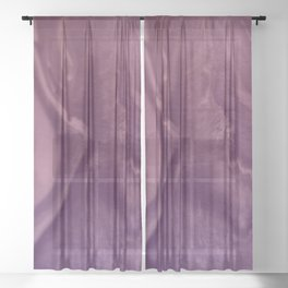 Watercolors purple and pink.Abstract Painting Sheer Curtain