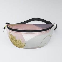 Nordic Abstract - pink, gray, gold and blue Fanny Pack