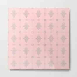 Encore Deco (pink-silver) Metal Print