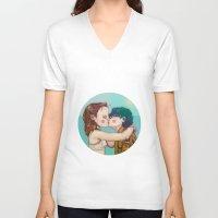 moonrise kingdom V-neck T-shirts featuring Moonrise Kingdom by Maripili