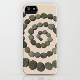 Square Pohaku: Lava Rock Labyrinth on the go iPhone Case
