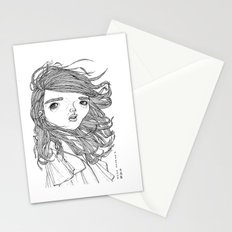 typhoon hair Stationery Cards