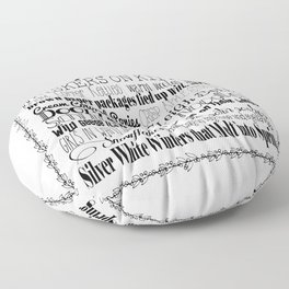 My Favorite Things - White with Border Floor Pillow