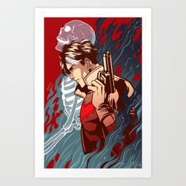 Dead Man Walking Art Print