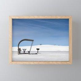 White Sands Shade Framed Mini Art Print