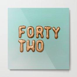 fortytwo - 42 Metal Print
