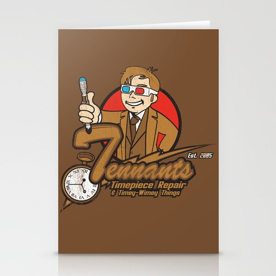 Tennants Timepiece Repair Stationery Cards