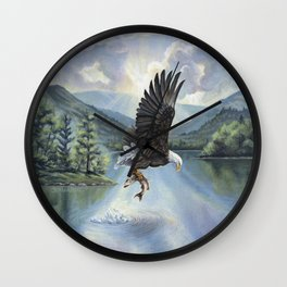 Eagle with Fish Wall Clock