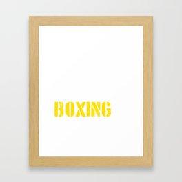 Eat. Sleep. Boxing. Repeat. Framed Art Print