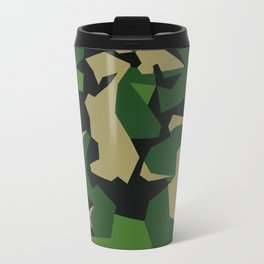 Camouflage Splinter Pattern Green Barret Travel Mug