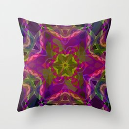 Crimson -purple kaleidoscope Throw Pillow