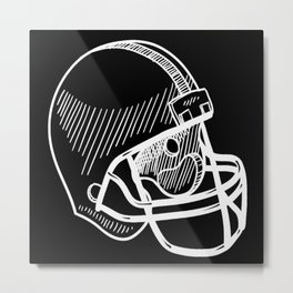 Football Sport American Coach Touchdown Metal Print