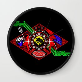 To Mend and Defend Wall Clock