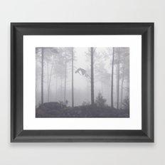 Falling Up Framed Art Print