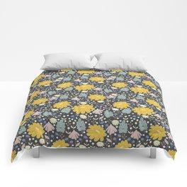 Ramona: a Modern Floral Pattern Comforters
