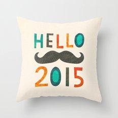HELLO 2015! Throw Pillow