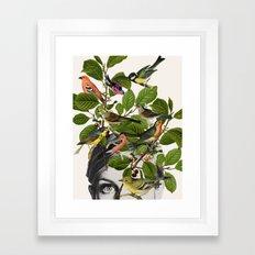 Twiggy Eyes Framed Art Print