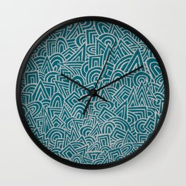 teal test Wall Clock