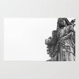 Blessed Virgin Mary Black & White Rug