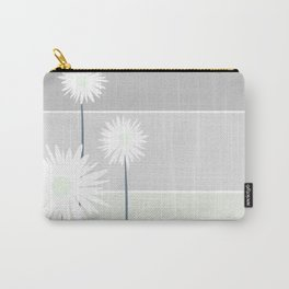 Simple flowers - blue grey Carry-All Pouch