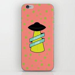 Headed Home UFO: Pink & Green iPhone Skin