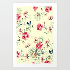 VINTAGE POPPIES - for iphone Art Print