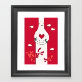 It is in my heart already Framed Art Print