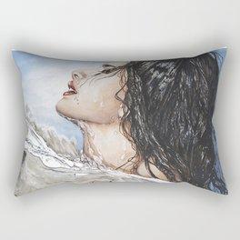 Head Above Water Rectangular Pillow