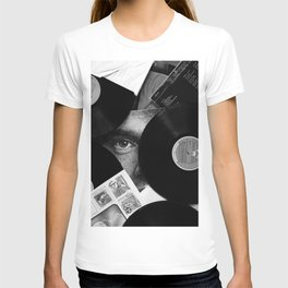 Long-playing Records and Covers in Black and White - Good Memories #decor #society6 #buyart T-shirt