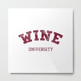Wine University Metal Print