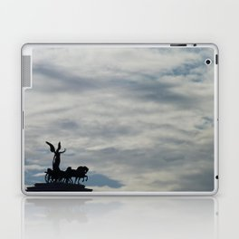 Roman angel and chariot at sunset Laptop & iPad Skin