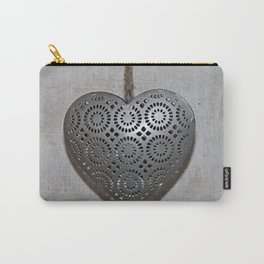 Carved metal heart Carry-All Pouch