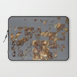 Bronze on Gray Square #abstract #society6 #decor #geometry Laptop Sleeve
